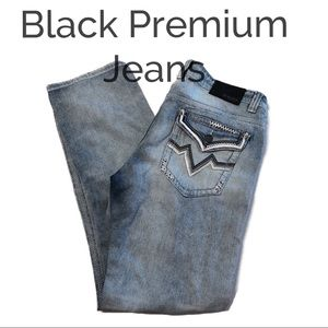 👖Black Premium Jeans Relaxed Straight Size 34/34